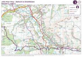 John Muir Way section 2 map 2 Burncrooks Killearn to Strathblane