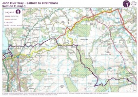 John Muir Way section 2 map 1 Balloch to Burnscrooks killearn