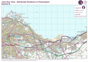 John Muir Way section 8 Edinburgh to Prestonpans