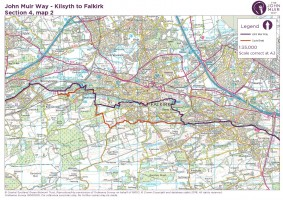 John Muir Way section 4 map 2 Bankhead to Falkirk