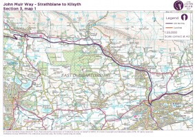 John Muir Way section 3 map 1 Strathblane to Kirkintilloch