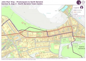 John Muir Way section 9 map 3 North Berwick to Town centre v2