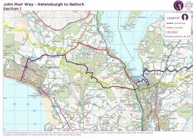 John Muir Way section 1 Helensburgh to balloch