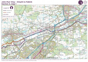John Muir Way section 4 map 1 Kilsyth to Bankhead