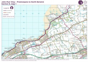 John Muir Way section 9 map 1 Prestonpans to Aberlady