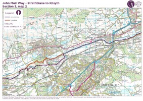 John Muir Way section 3 map 2 Kirkintlloch to Killsyth