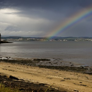 S7 Barnbougle Castle beach rainbow
